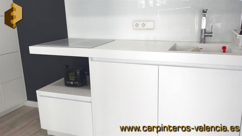 Galer a de fotos de cocinas blancas lacadas sin - Cocinas en valencia ...