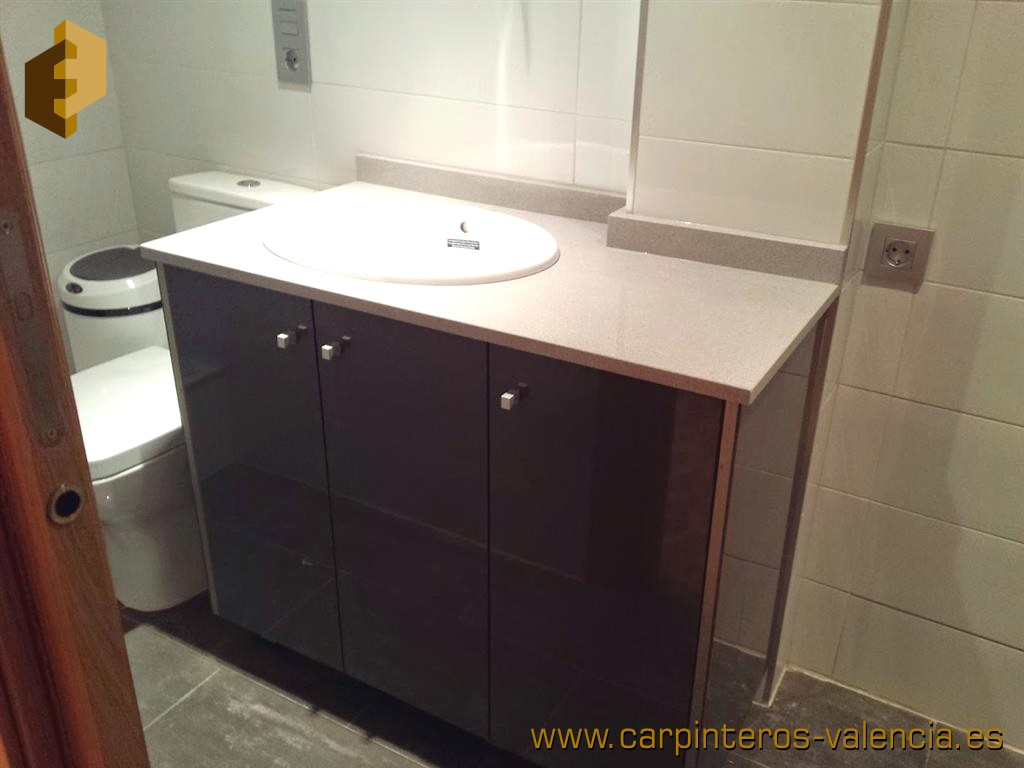 Colecci n de fotos de muebles de ba o y aseo a medida for Medidas muebles