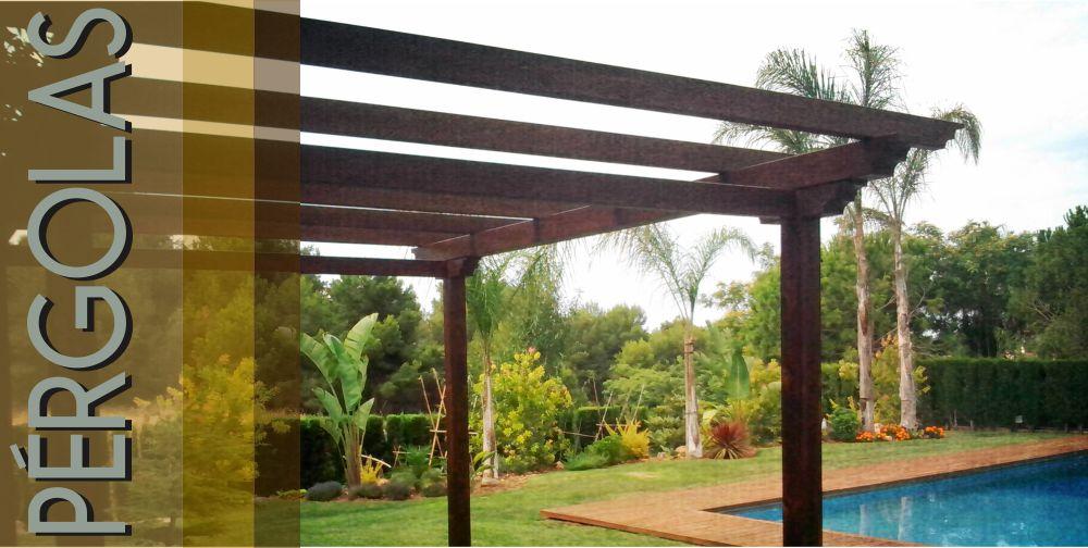 Estructuras p rgolas coberturas de terrazas vigas - Vigas de madera en valencia ...