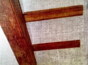 Vigas decorativas en madera en rehabilitación